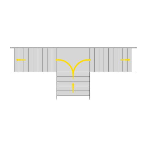 Kvartsvingtrapp (L-trapp)