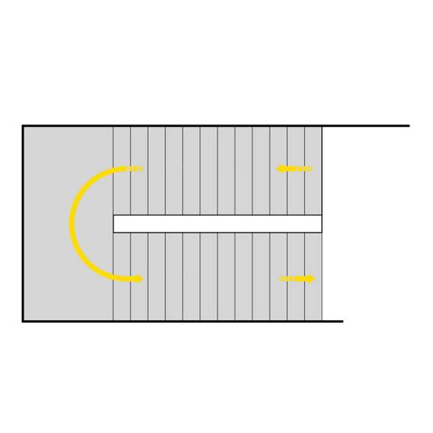 Toløpstrapp / U-trapp