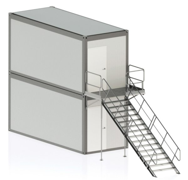 temporary container stairs